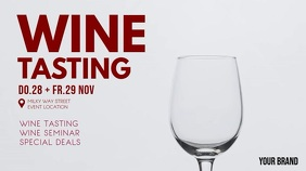 Wine Tasting Invitation Event Video Cover Ad 数字显示屏 (16:9) template