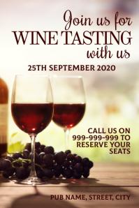 Wine tasting poster