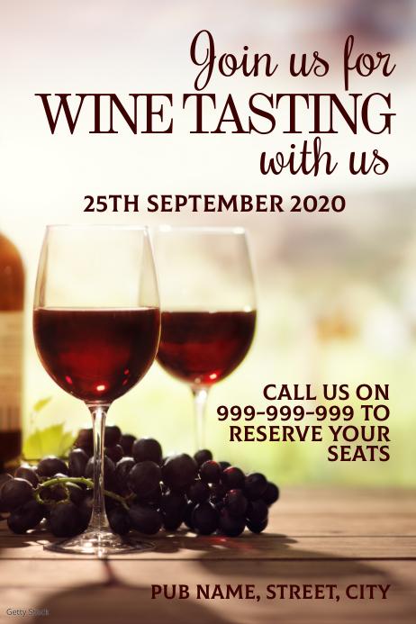 Wine tasting poster Plakkaat template