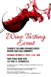 Wine Tasting Poster Plakkaat template