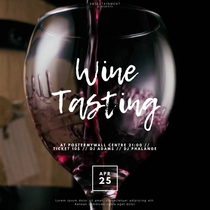 Wine tasting Video template for instagram