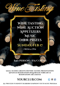 Wine Testing Event Poster A4 template