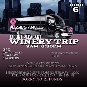 winery trip flyer Square (1:1) template