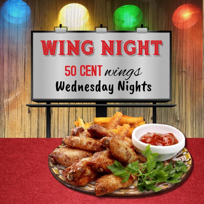 Wing Night Instagram Post