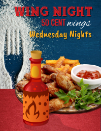 Wing Night Special Flyer