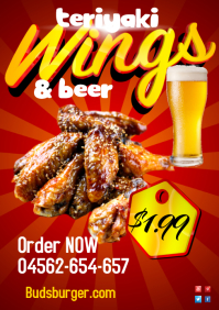 Wings+coke poster