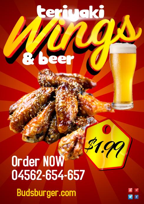 Wings+coke poster