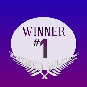 Winner Contest Social Media Post