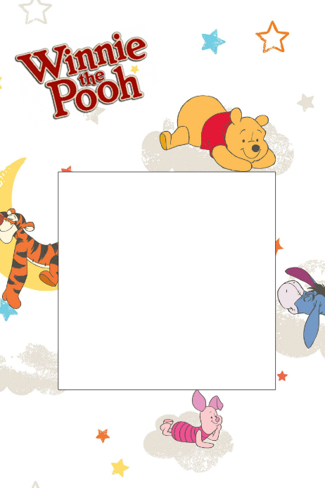 Winnie The Pooh Party Prop Frame Template Postermywall