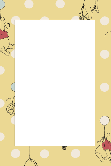 Copy Of Winnie The Pooh Party Prop Frame Postermywall