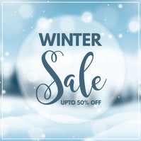 winter, christmas sale, winter sale Publicação no Instagram template