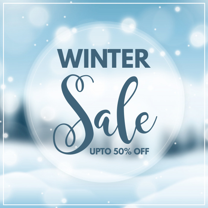 winter, christmas sale, winter sale Instagram 帖子 template