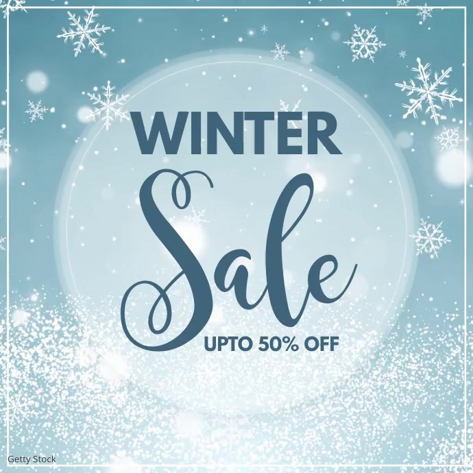 winter, christmas sale, winter sale Instagram-opslag template