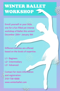 Winter Ballet Workshop Flyer/Poster