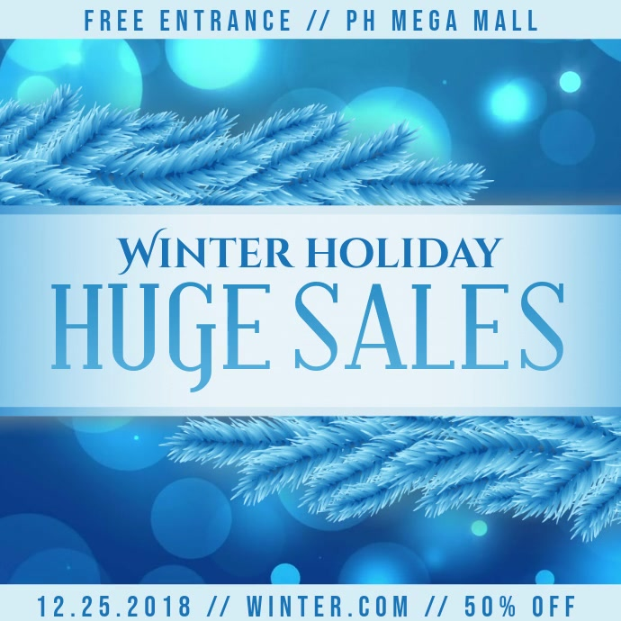 Winter Big Sale Instagram Ad Video