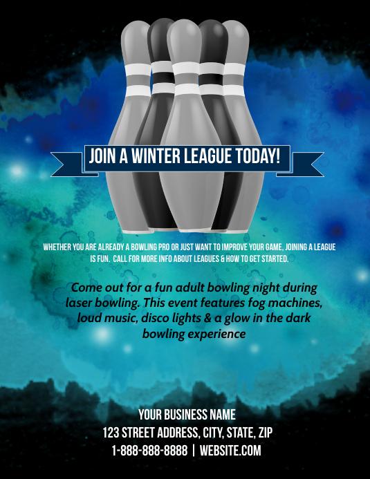 winter bowling league template