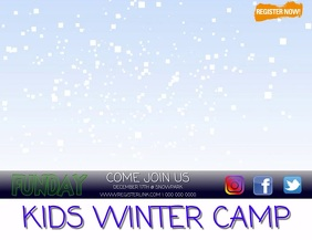 WINTER CAMP FLYER TEMPLATE DIGITAL VIDEO