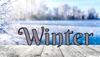 Winter Canvas LMS Blackboard Banner Header template