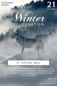Winter Celebration Flyer Template