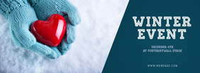 Winter Charity Fundraising Event Facebook COver