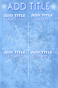 winter chart in soft colors, simple, neat & clean