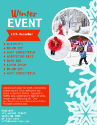 Winter Childrens Event Flyer Template