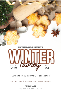 Winter Christmas Baking event Flyer Template