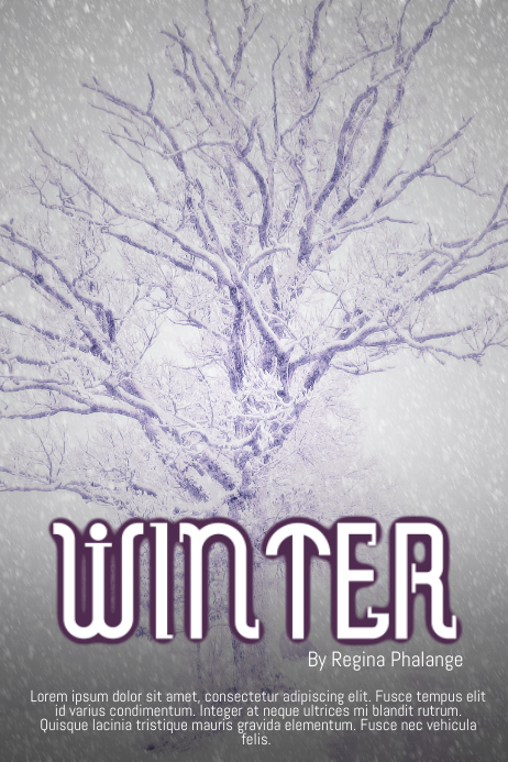 Winter Christmas Book Cover Movie Film Template