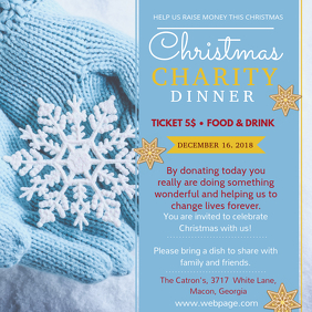 Winter Christmas Dinner Invitation