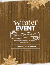 Winter Christmas Event Flyer Template