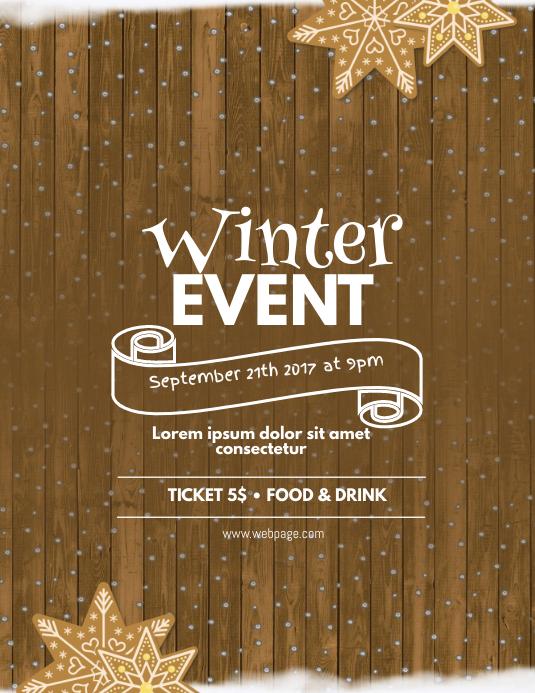 Winter Christmas Event Flyer Template