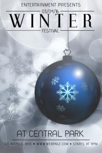 winter christmas festival event flyer template