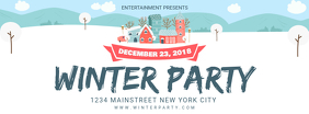 Winter Christmas Party Facebook Banner
