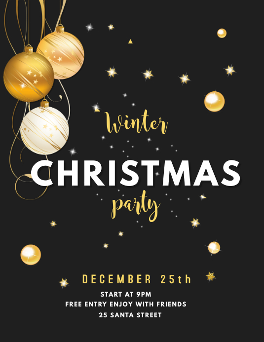 WINTER CHRISTMAS PARTY FLYER