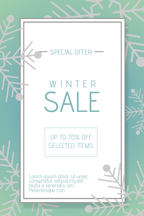 Winter Christmas Sale Promotion poster template