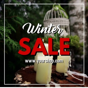 Winter Christmas Sale Video Advert Square Retail Decoration