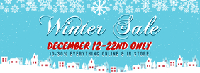 Winter Christmas Special Sale Facebook Banner template