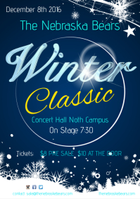 Winter Classic Concert Poster Template