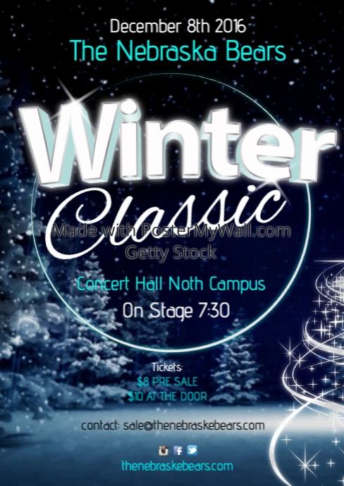 Winter Classic Concert Poster