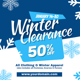 Winter Clearance Sale Discount Instagram Post Template Instagram-bericht