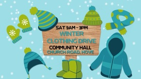 Winter Clothing Drive Digital Template