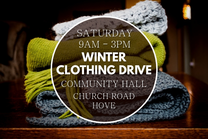 Winter Clothing Drive Poster Template