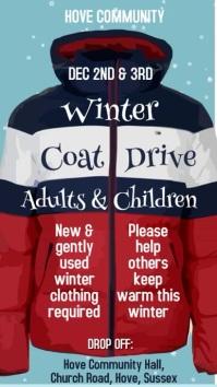 Winter Clothing Drive Video Template Affichage numérique (9:16)