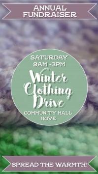 Winter Clothing Drive Video Template Tampilan Digital (9:16)