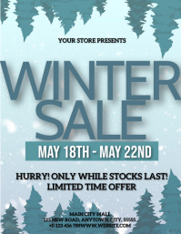 WINTER CLOTHING SALE AD EVENT TEMPLATE Flyer (US Letter)
