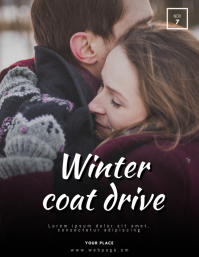 Winter Coat Drive Flyer Template