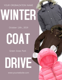 Winter Coat Drive Fundraiser Flyer Template