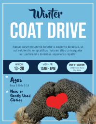 Winter Coat Drive Fundraising Flyer template