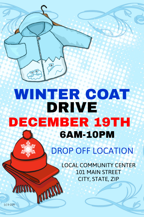 Winter Coat Drive Template | PosterMyWall