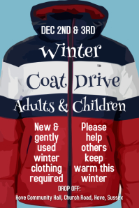 Winter Coat Drive Poster Template